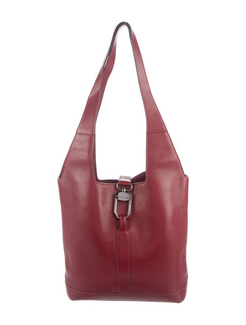 Delvaux Vintage Leather Hobo Red