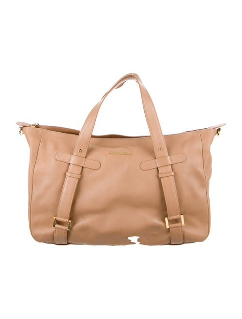 Delvaux Leather Handle Bag Gold