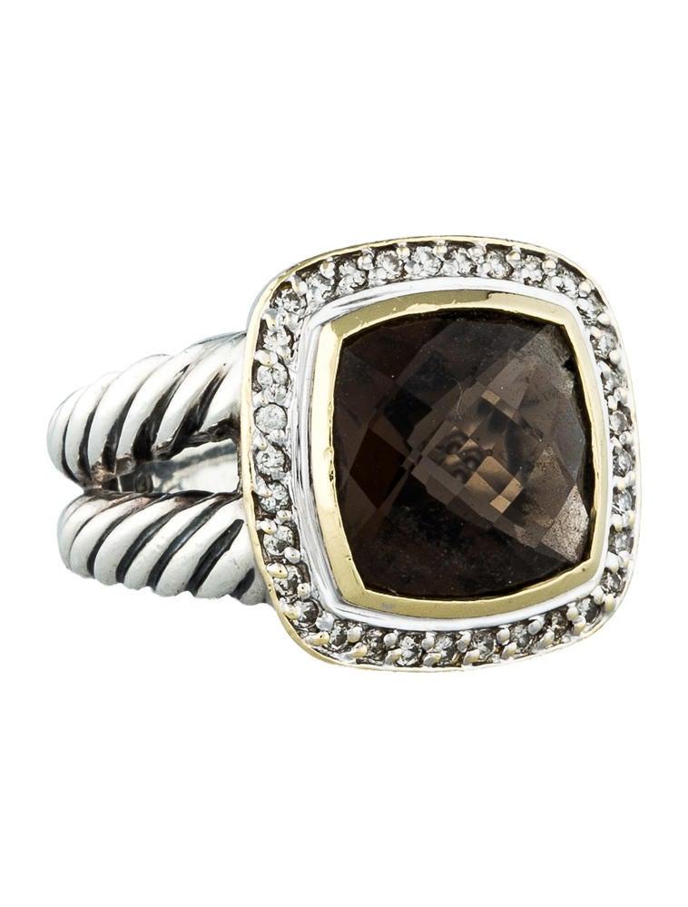 David yurman smoky quartz albion ring rings dvy21238 for David yurman inspired jewelry rings