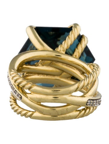 Cable Wrap Diamond Ring