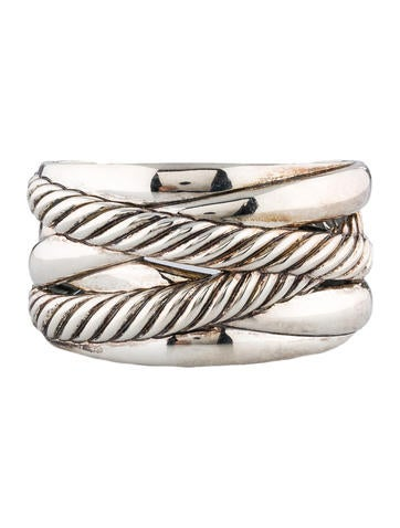Crossover Wide Cuff Bracelet