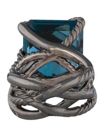 London Blue Topaz Wrap Ring