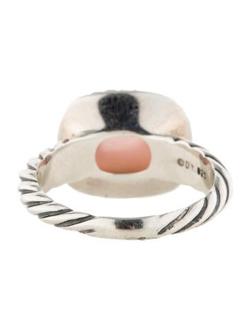 Rose Quartz and Mother Of Pearl Ring