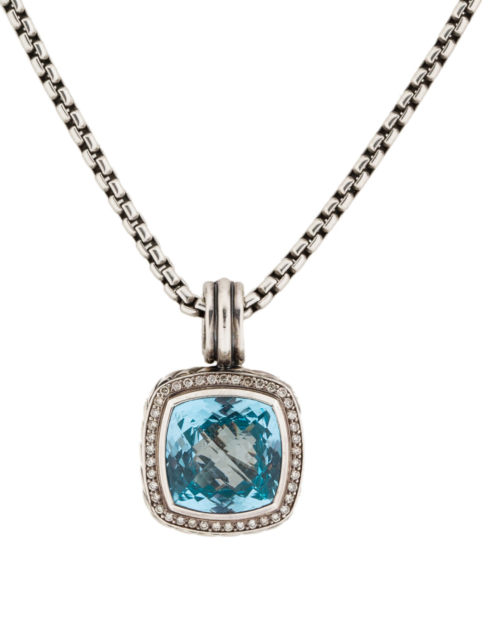 david yurman blue topaz and diamond albion necklace. Black Bedroom Furniture Sets. Home Design Ideas