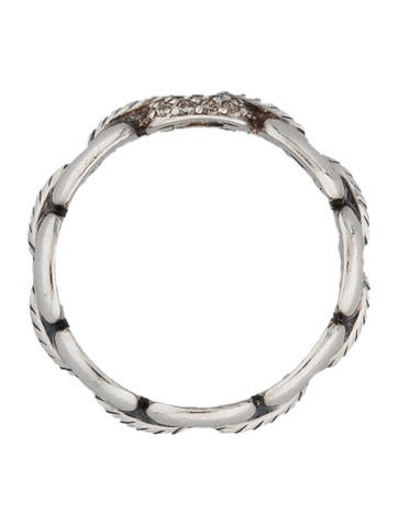 Pavé Buckle Link Ring