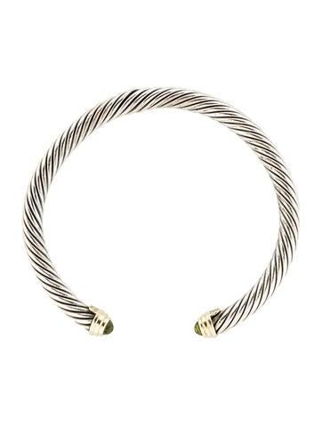 Peridot Cable Bracelet