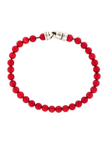 Spiritual Red Coral Bead Bracelet