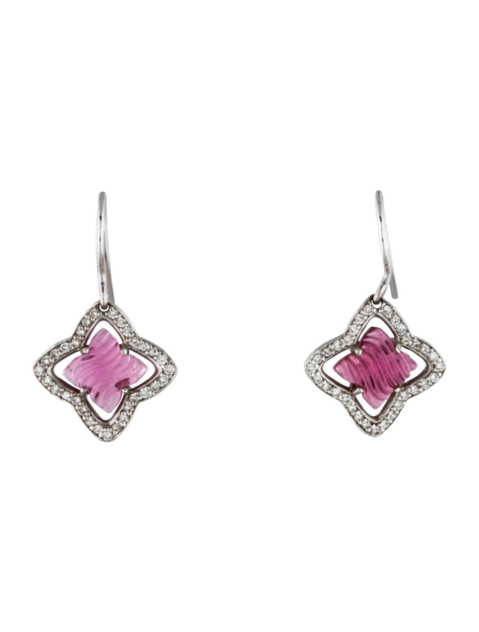 Pink Tourmaline Quatrefoil Earrings