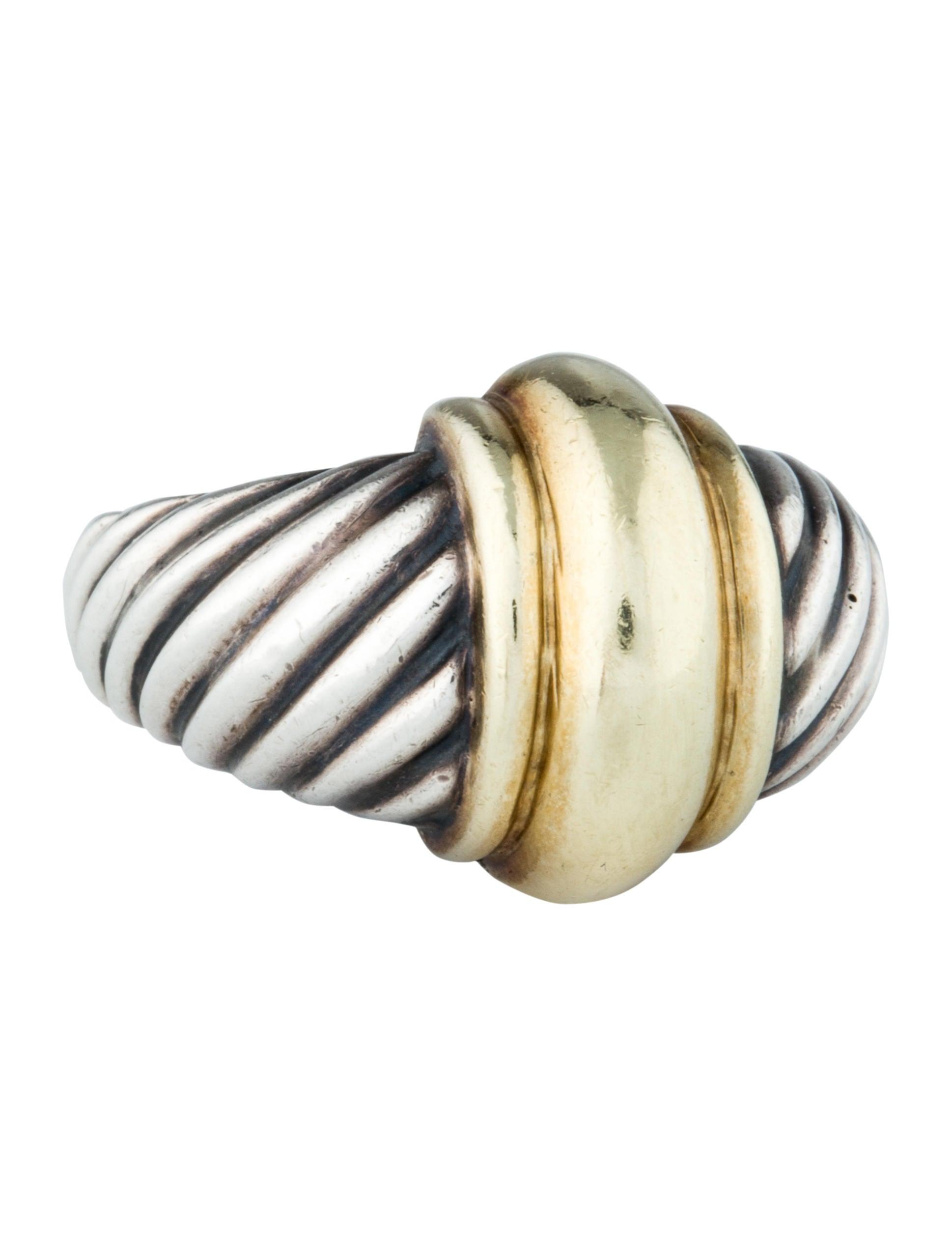 david yurman two tone cable ring rings dvy25543 the