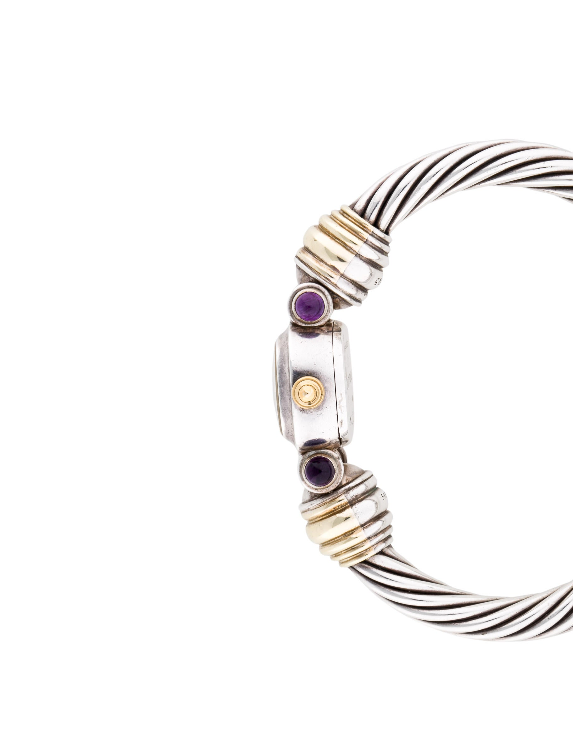 David yurman two tone cable bracelet watch bracelet for David yurman inspired bracelet cable
