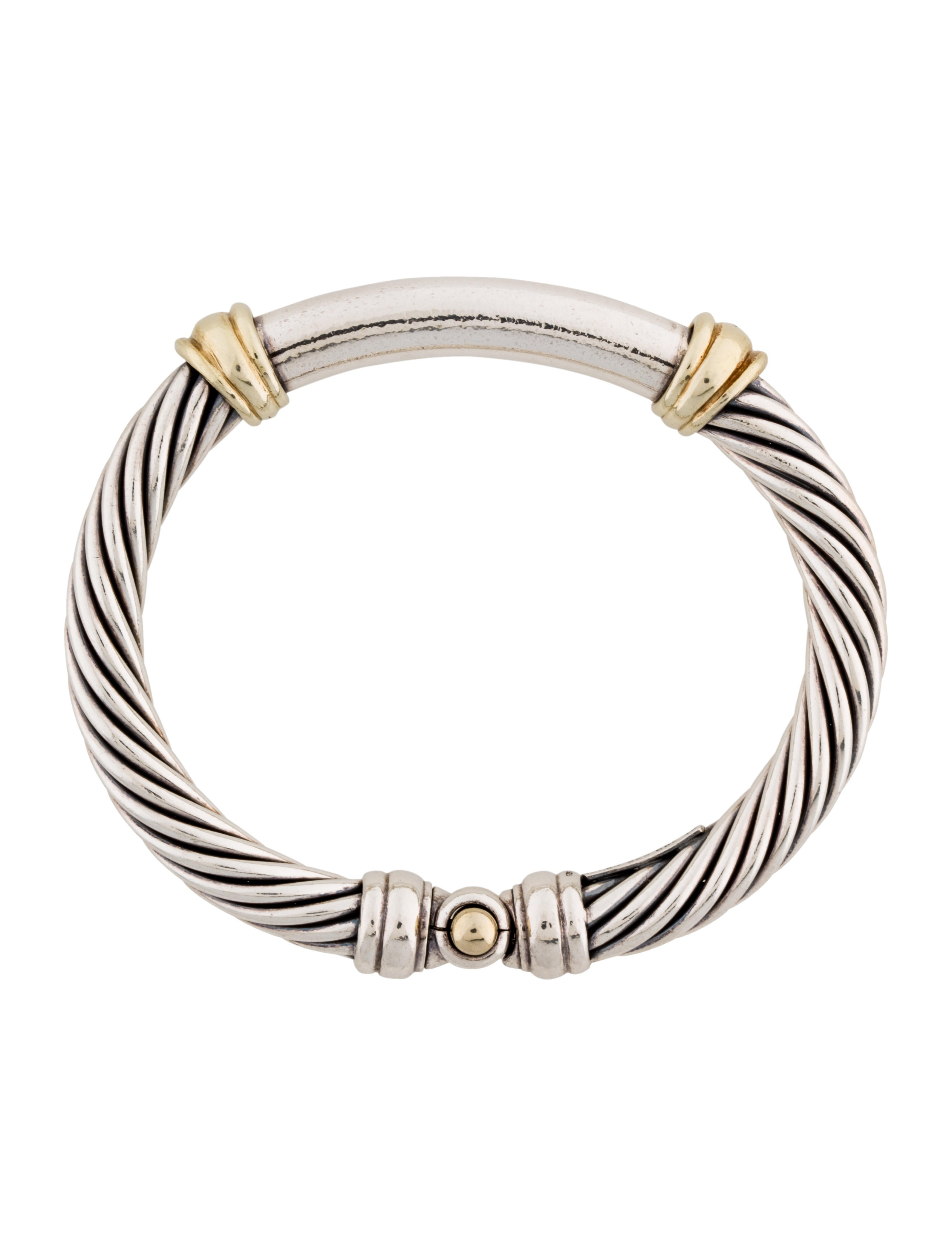 David yurman two tone metro cable bracelet bracelets for David yurman inspired bracelet cable