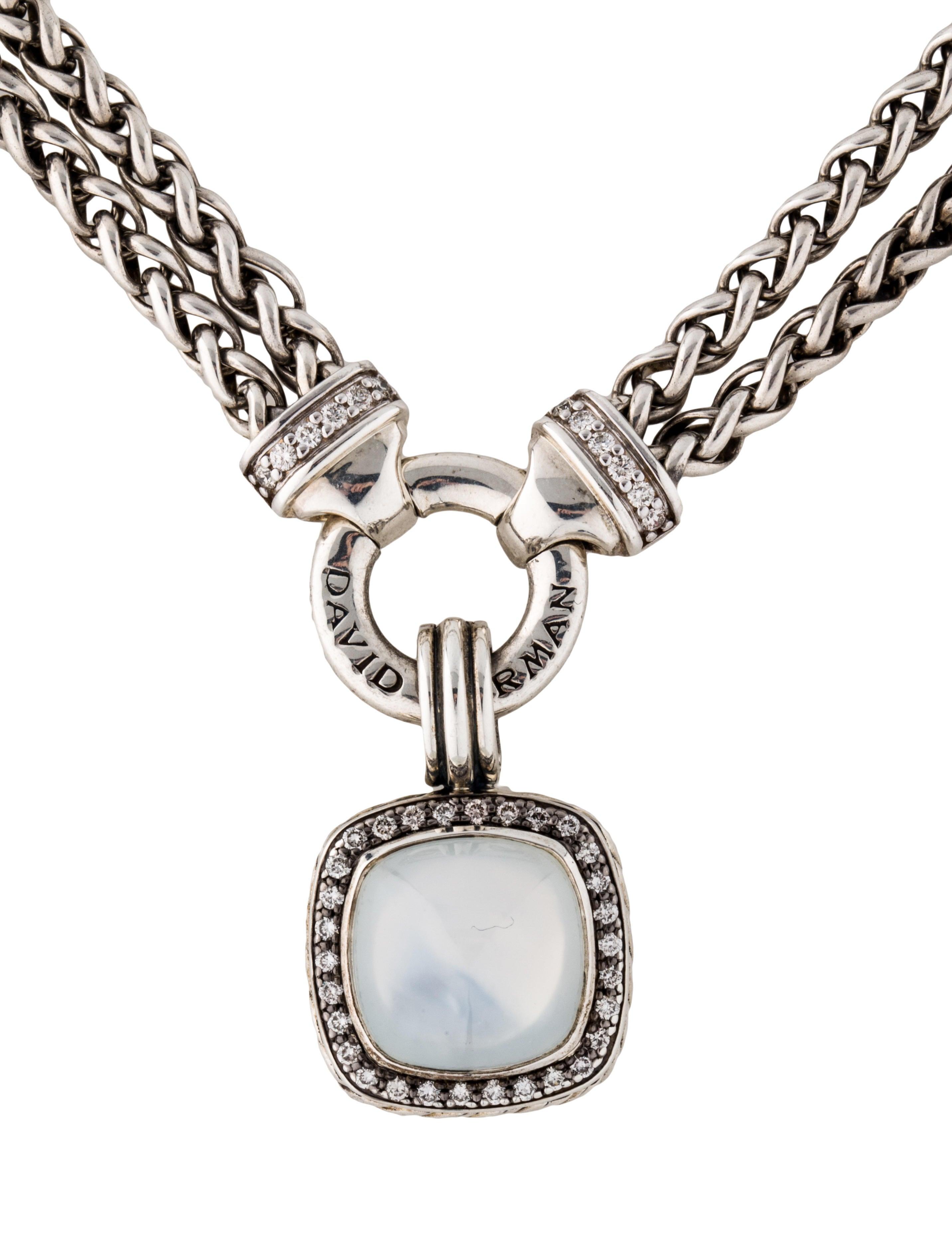 David Yurman Albion Moon Quartz And Diamond Pendant