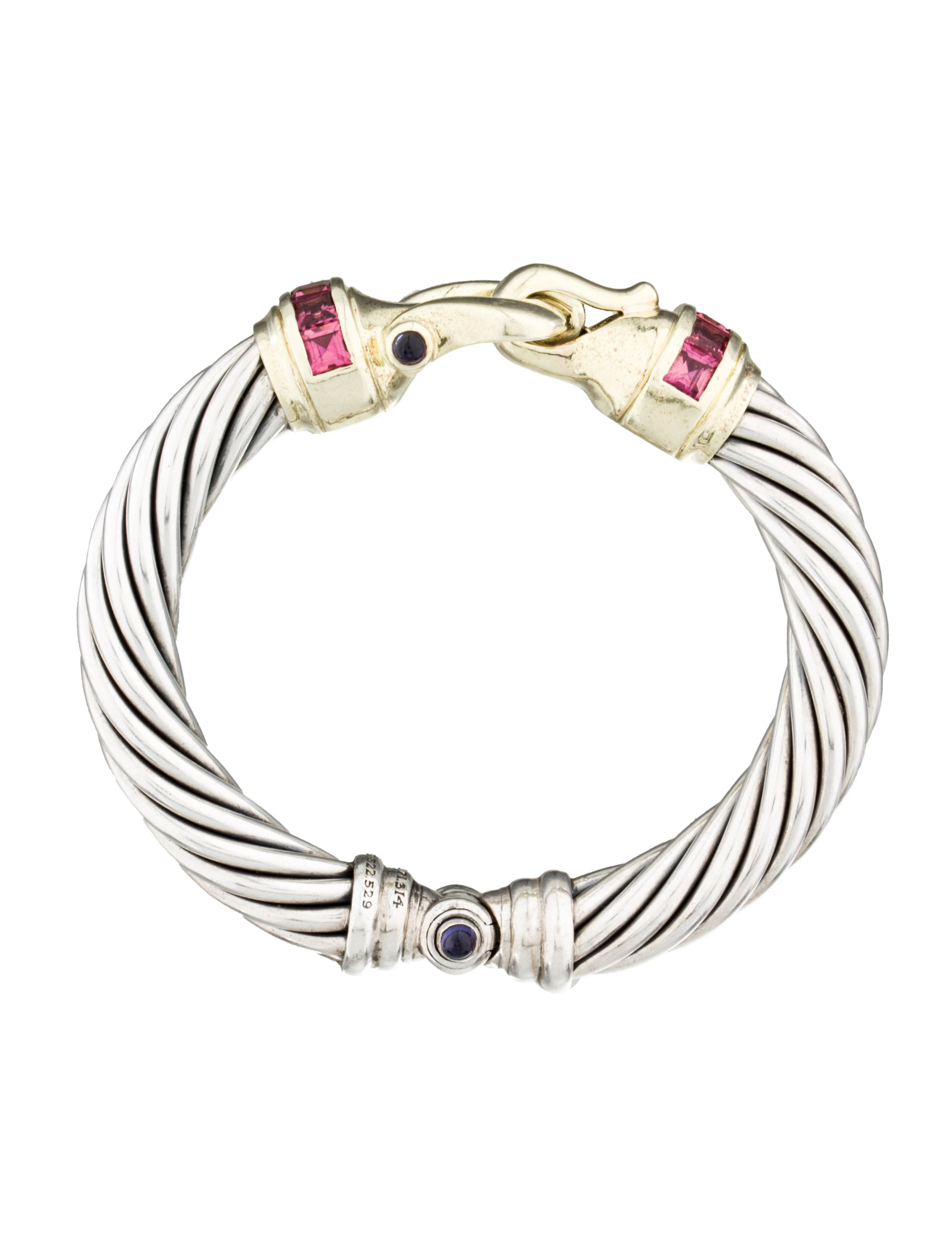 David yurman tourmaline buckle bracelet bracelets for David yurman inspired bracelet cable