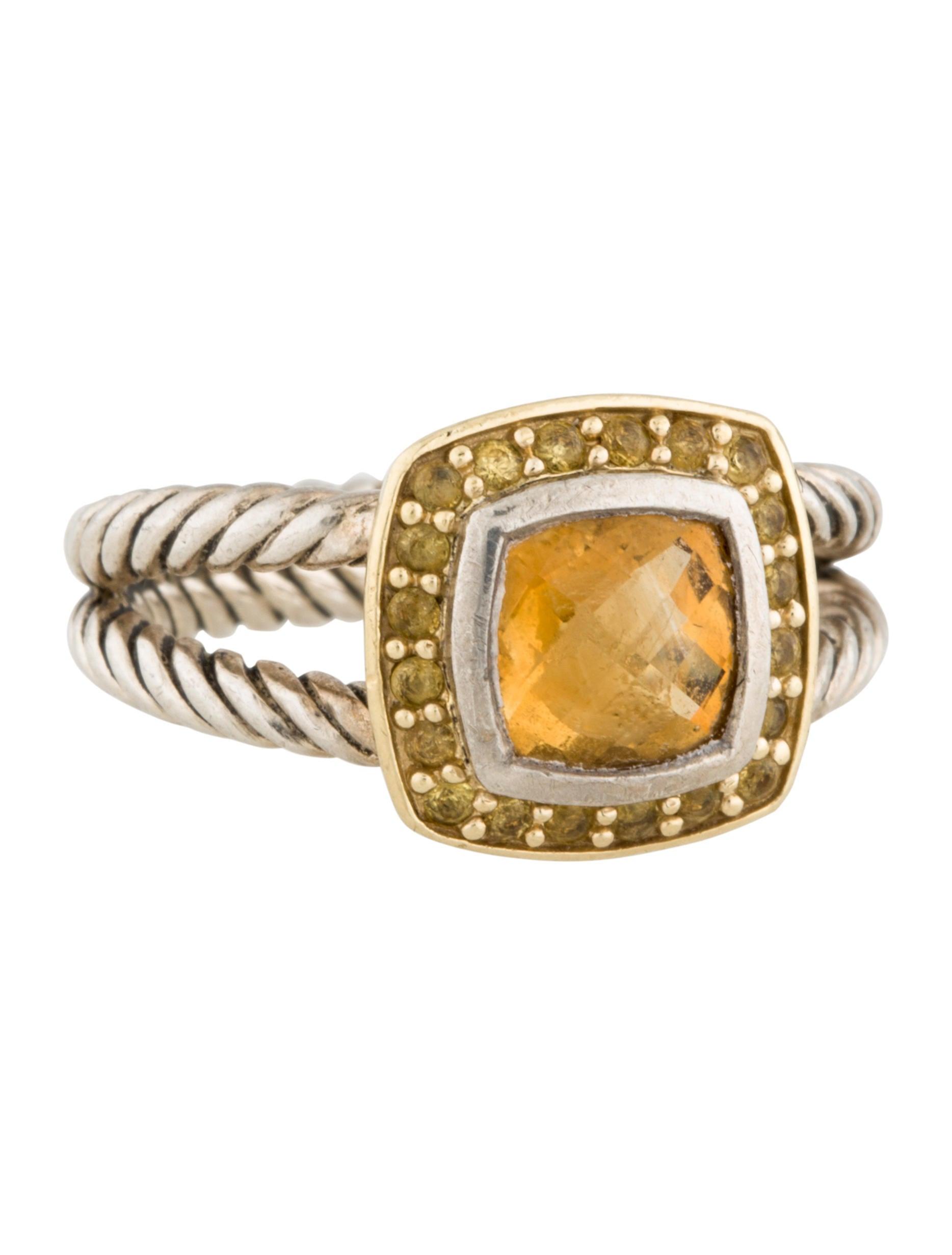 David yurman petite citrine albion ring rings dvy27950 for David yurman inspired jewelry rings