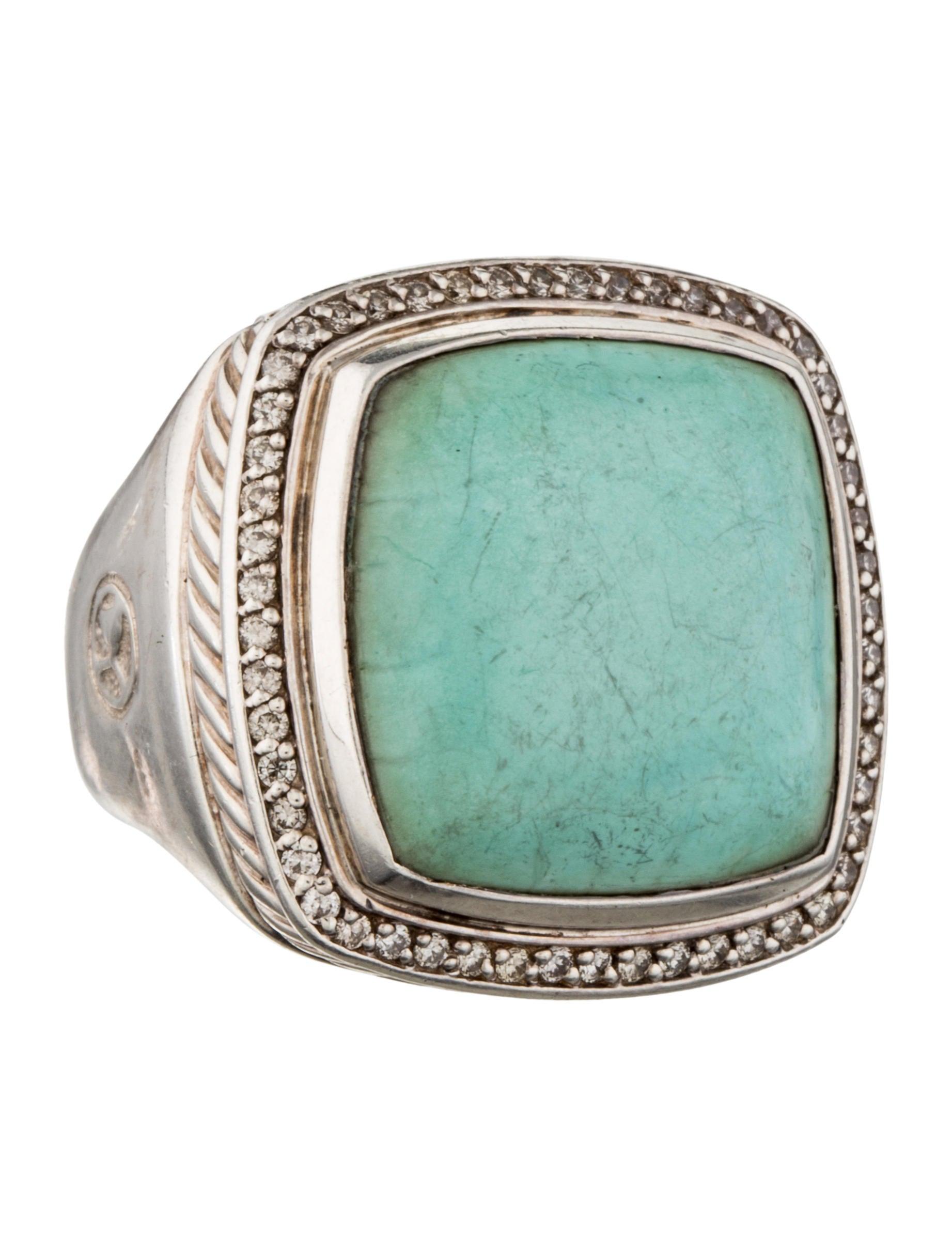 David yurman turquoise albion ring rings dvy28647 for David yurman inspired jewelry rings