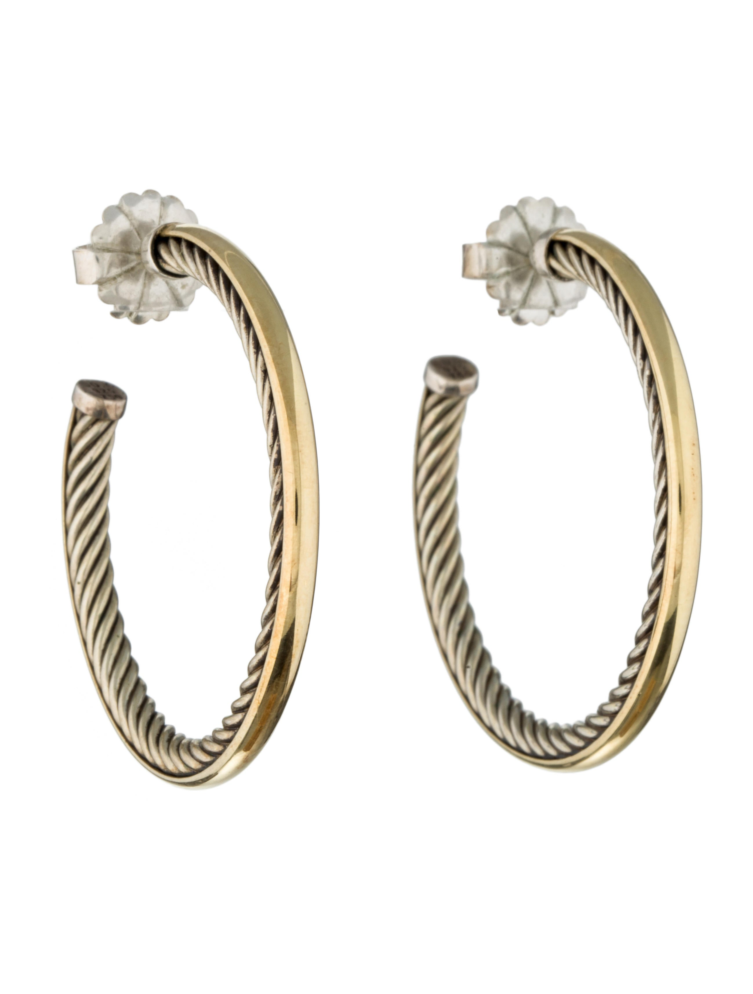 david yurman crossover hoop earrings earrings dvy28796