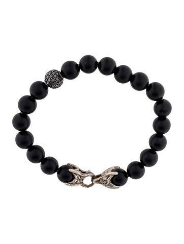 Spiritual Beads Bracelet with Black Onyx and Black Diamonds
