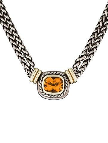 David Yurman Double Wheat Citrine Necklace Necklaces