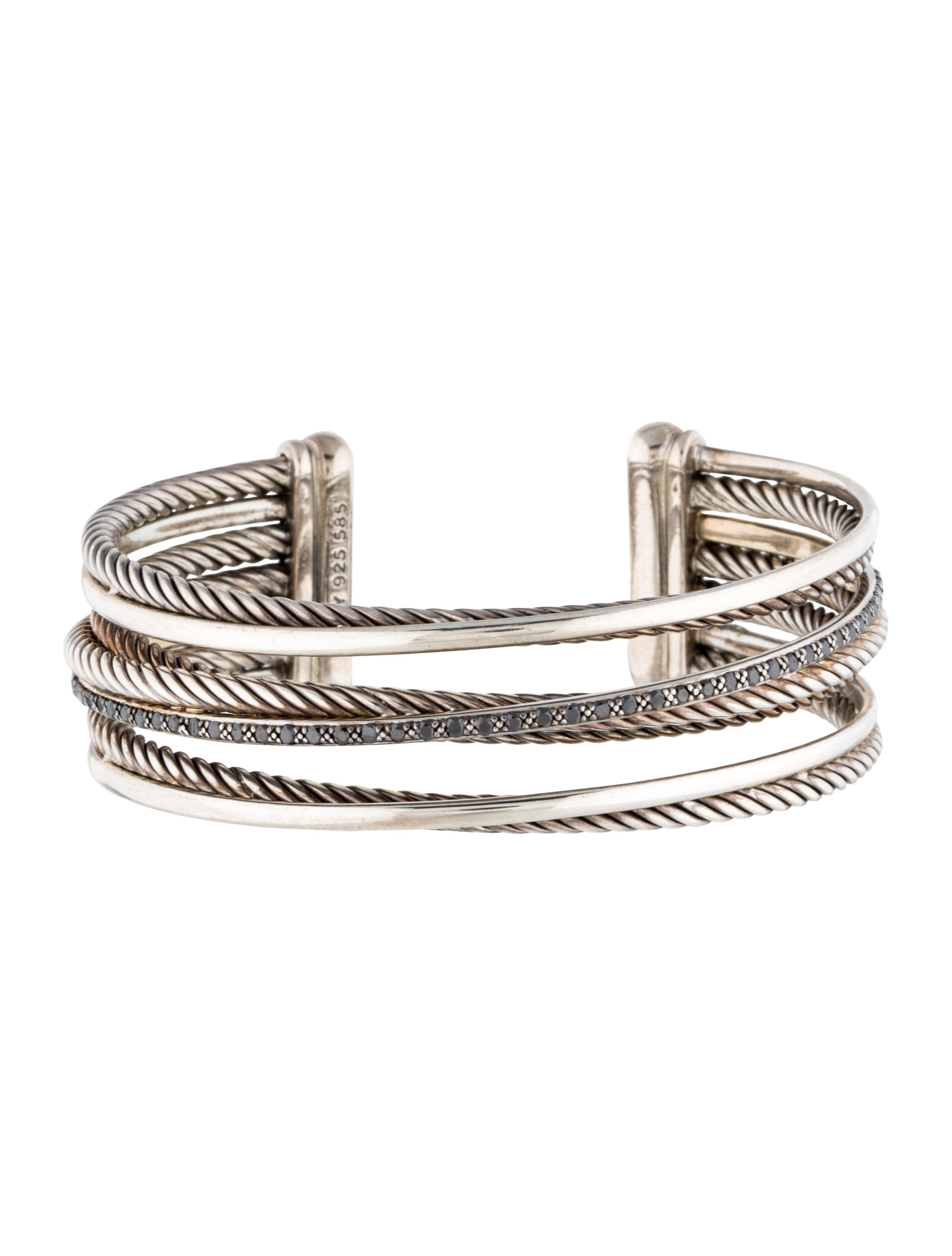 david yurman black diamond crossover cuff bracelets