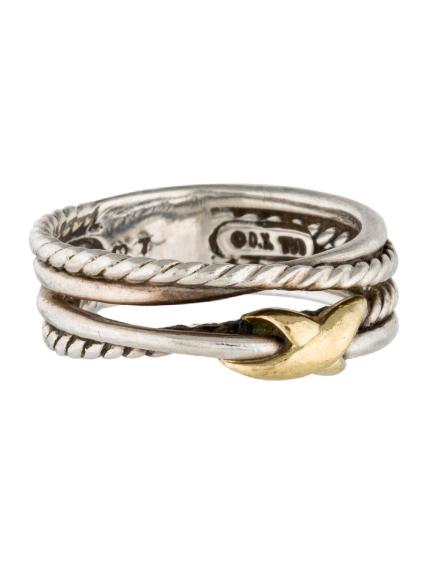 David yurman x crossover ring rings dvy29608 the for David yurman inspired jewelry rings