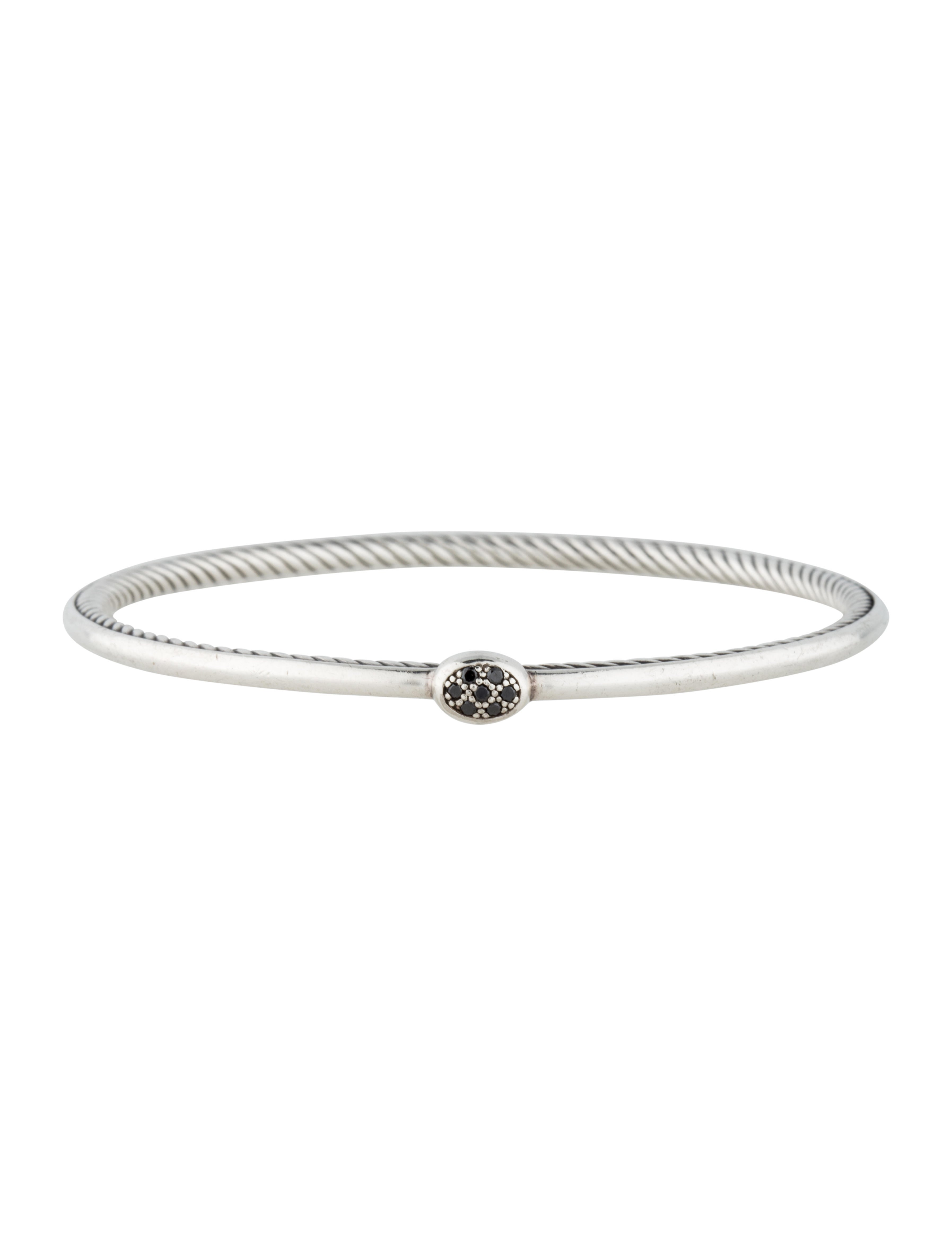 David yurman black diamond inside cable bracelet for David yurman inspired bracelet cable