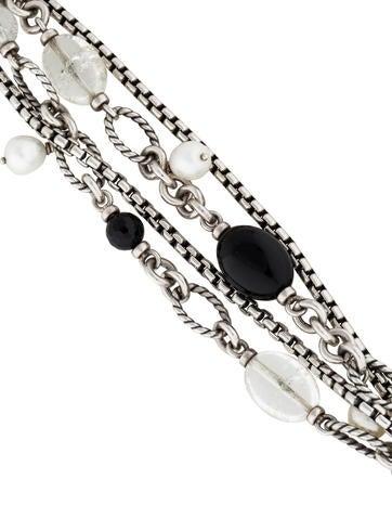 Pearl, Onyx and Quartz Bracelet