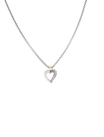 Cable Heart Necklace