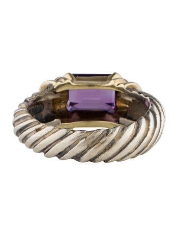 Amethyst Cable Ring