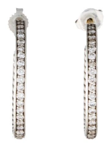 Sculpted Diamond Hoop Earrings