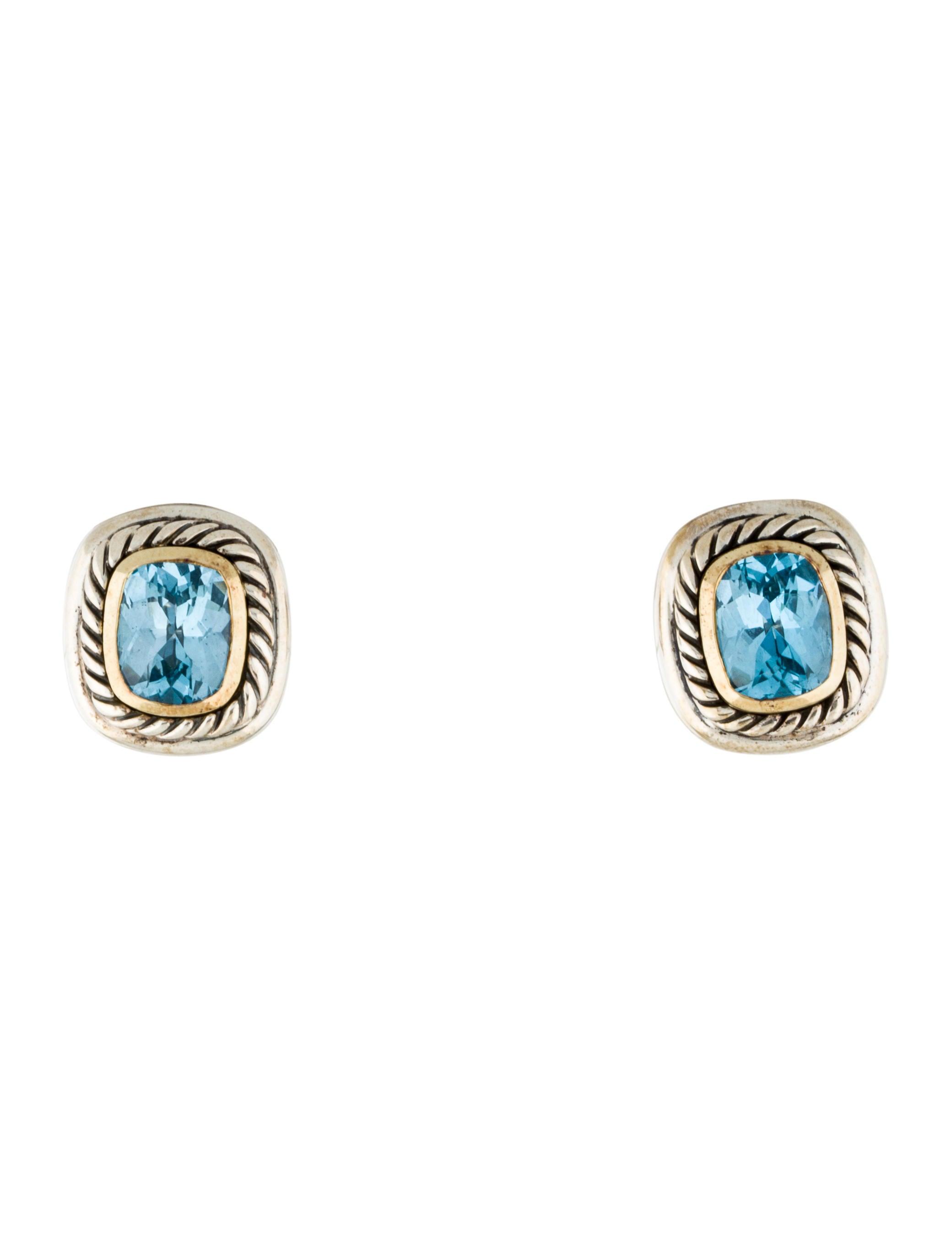 david yurman blue topaz albion earrings earrings