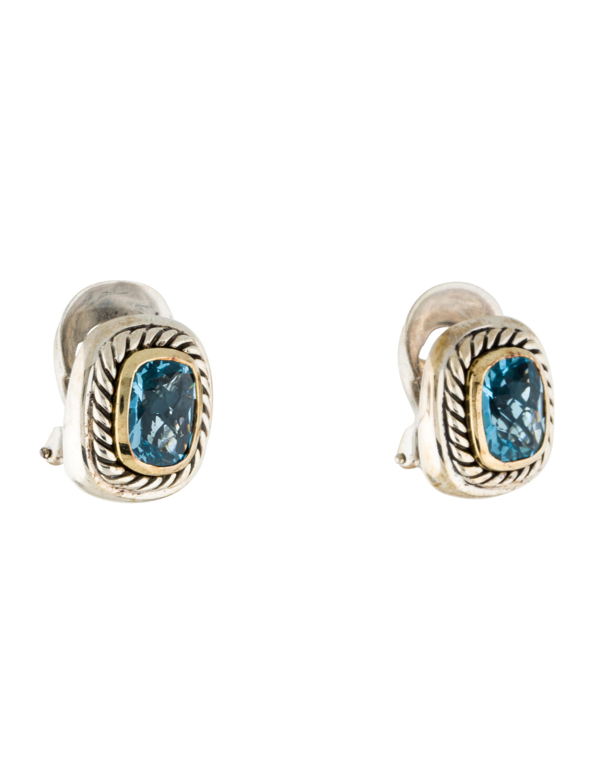 david yurman earrings sale david yurman blue topaz albion earrings earrings 1359
