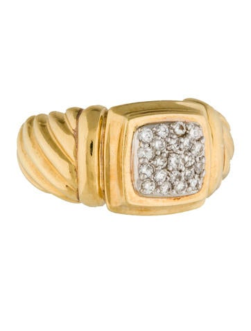 David Yurman 18K Diamond Cable Band