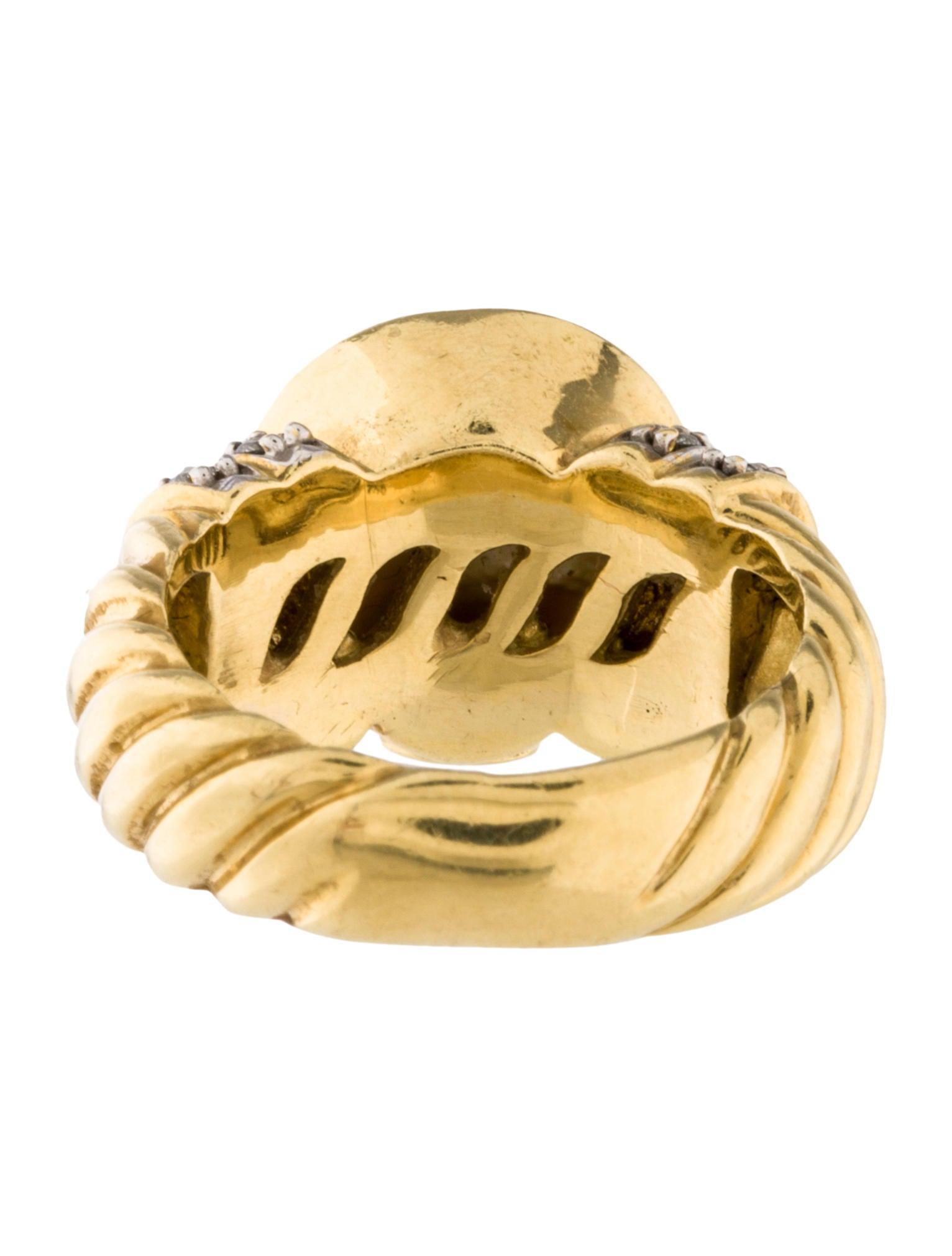 david yurman pearl diamond ring rings dvy35132 the. Black Bedroom Furniture Sets. Home Design Ideas