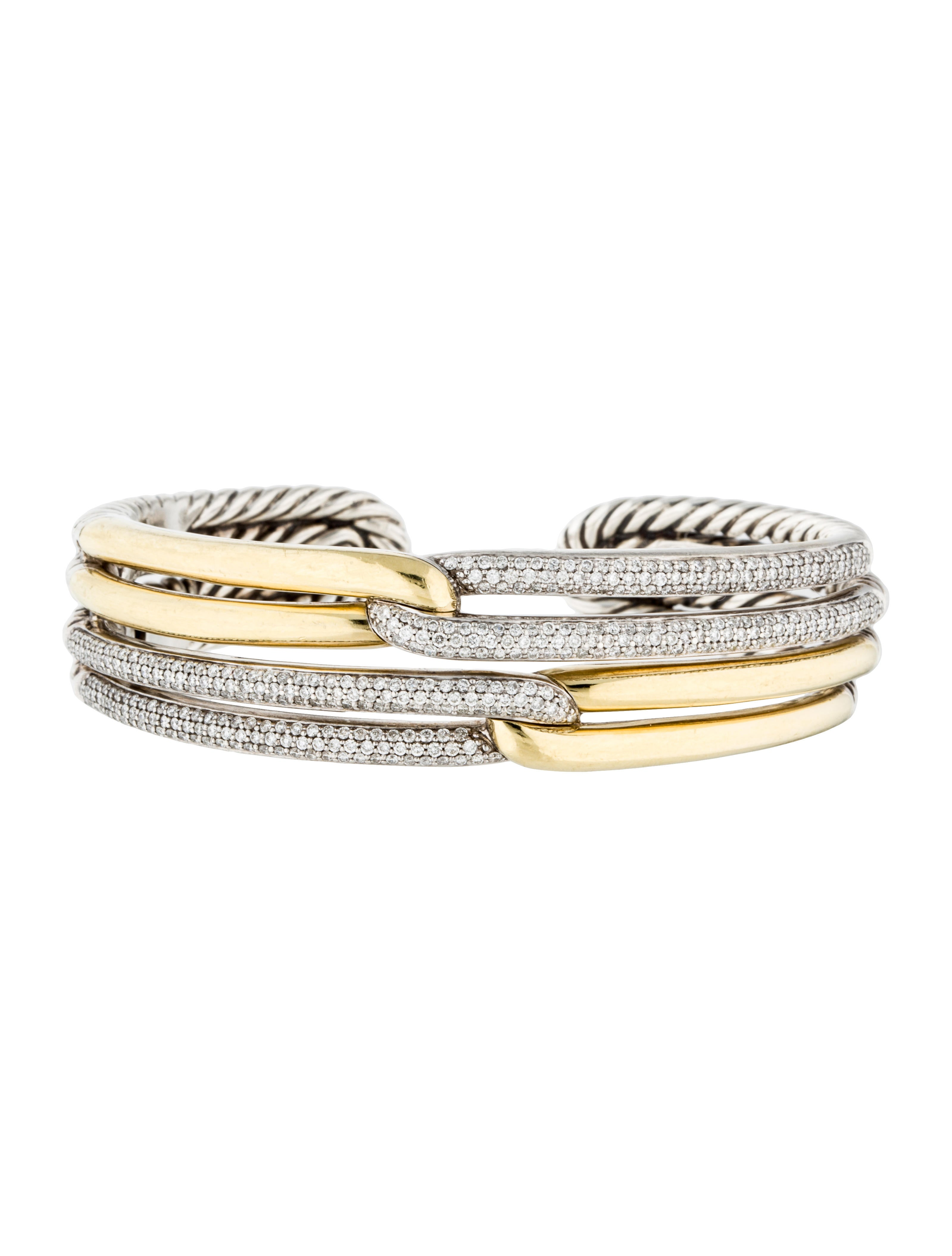 david yurman two tone labyrinth double loop cuff bracelet. Black Bedroom Furniture Sets. Home Design Ideas