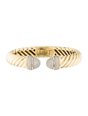 David Yurman 18K Diamond Waverly Bracelet