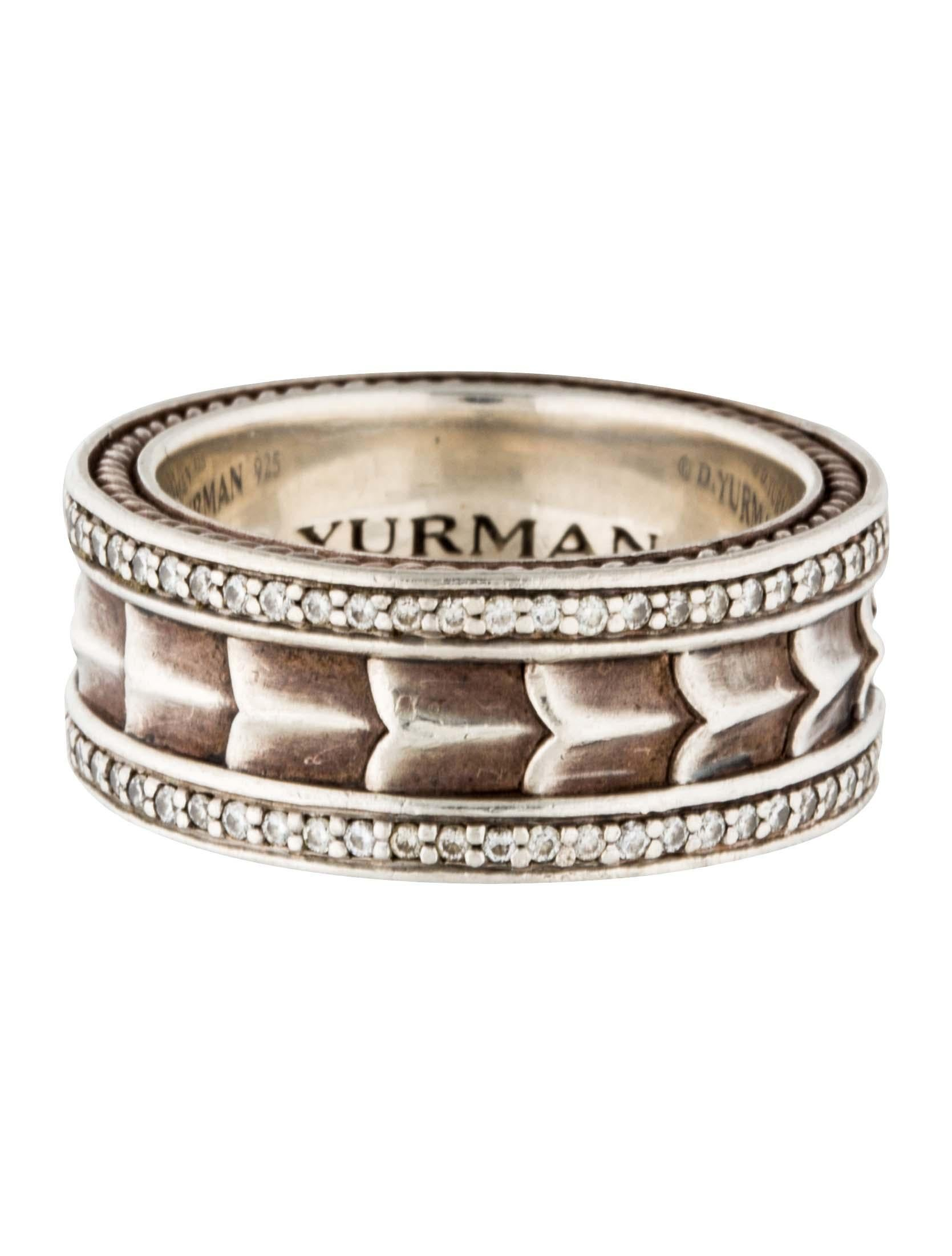 David yurman diamond armory band rings dvy36344 the for David yurman inspired jewelry rings
