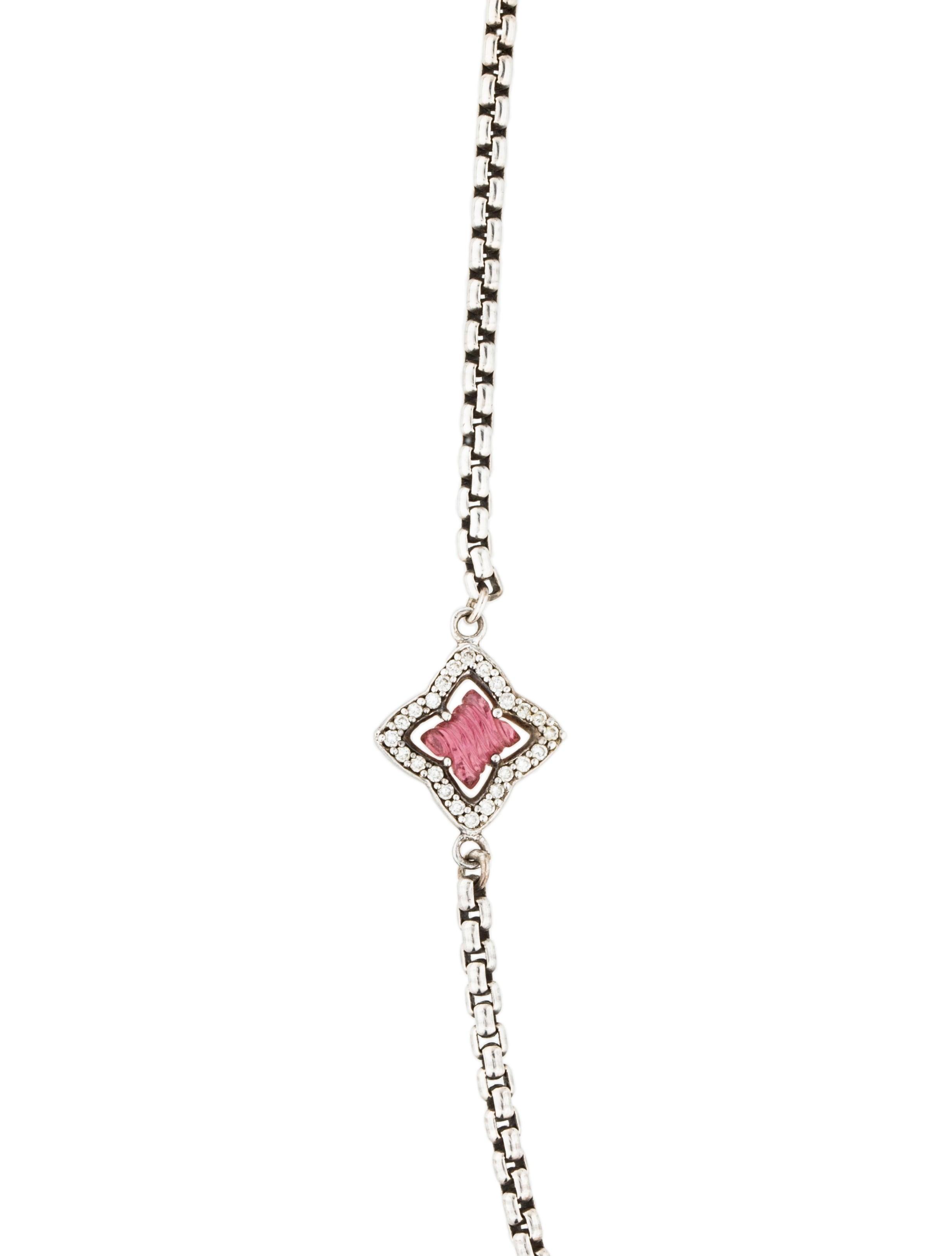 david yurman pink tourmaline diamond quatrefoil necklace. Black Bedroom Furniture Sets. Home Design Ideas