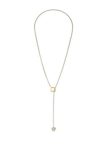 David Yurman Quatrefoil Diamond Heart Lariat Necklace