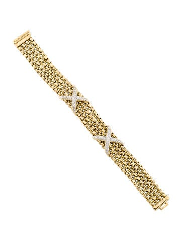 David Yurman Diamond X Multistrand Bracelet