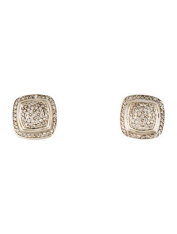 David Yurman Sterling Diamond Pavé Albion Earrings