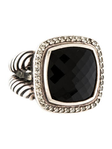 David Yurman Onyx & Diamond Albion Ring