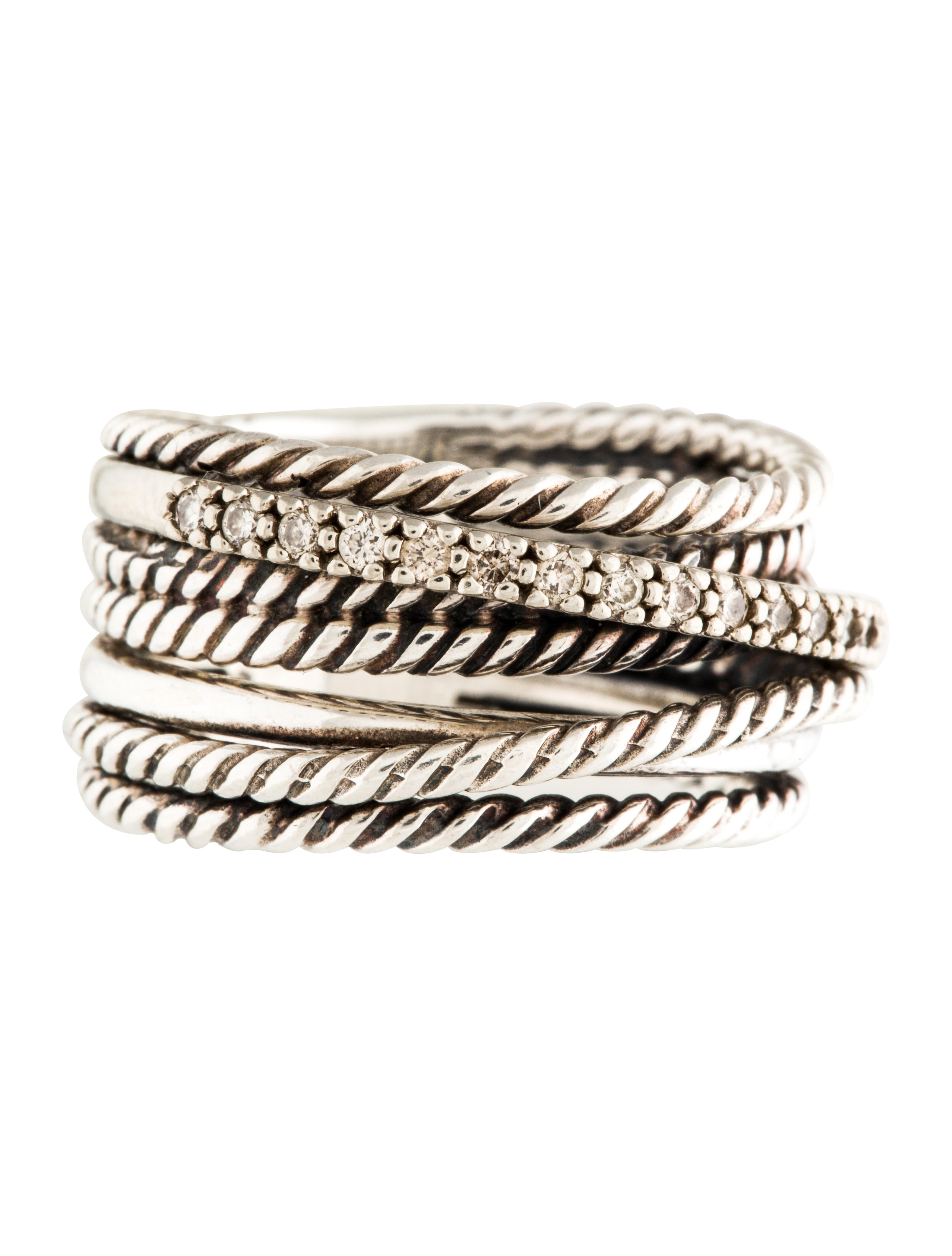 david yurman wide crossover ring rings