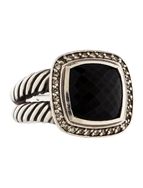 David yurman onyx diamond albion ring rings dvy36895 for David yurman inspired jewelry rings