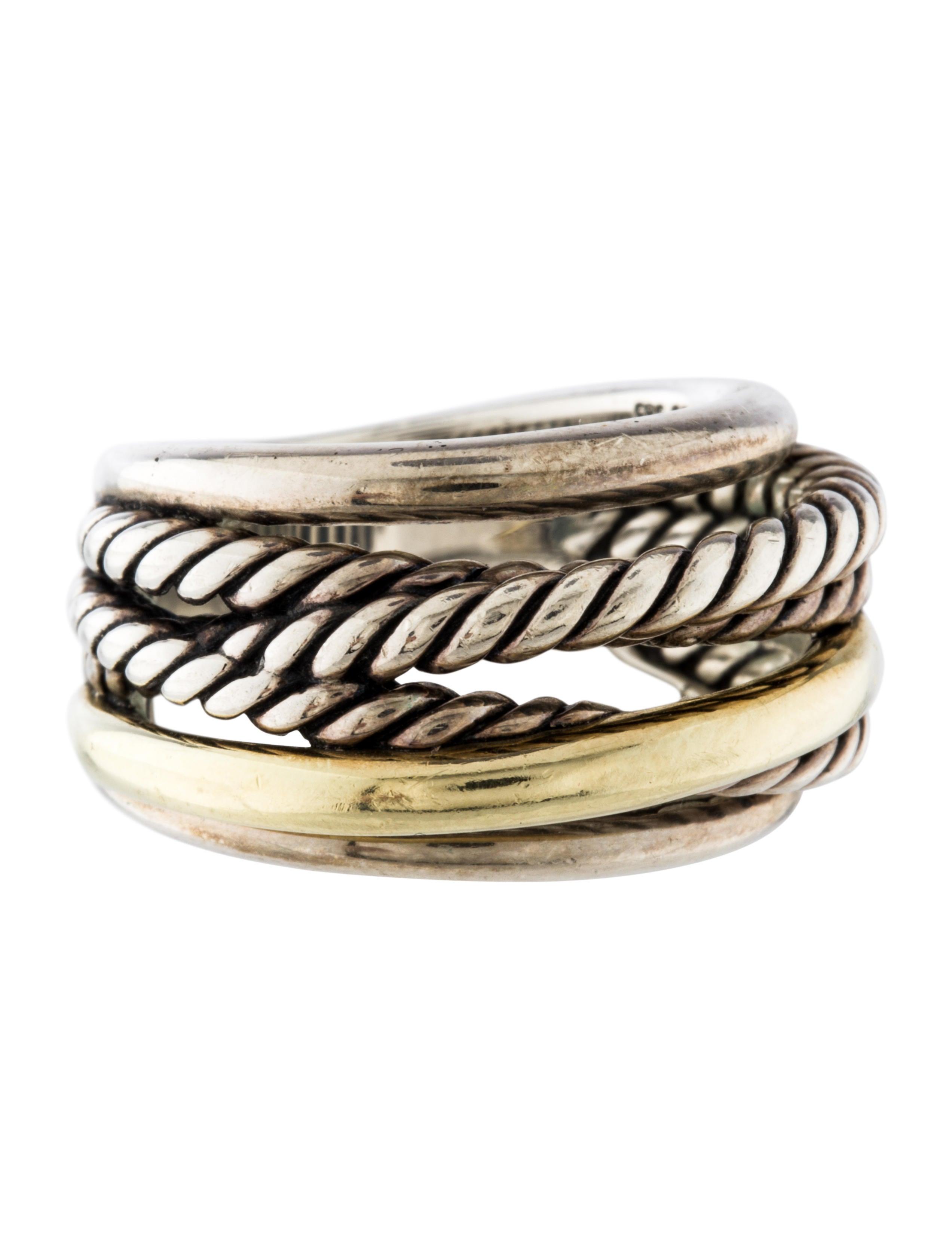 David yurman crossover ring rings dvy36898 the realreal for David yurman inspired jewelry rings