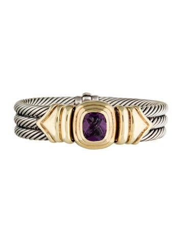 David Yurman Two-Tone Albion Triple Cable Bangle Bracelet