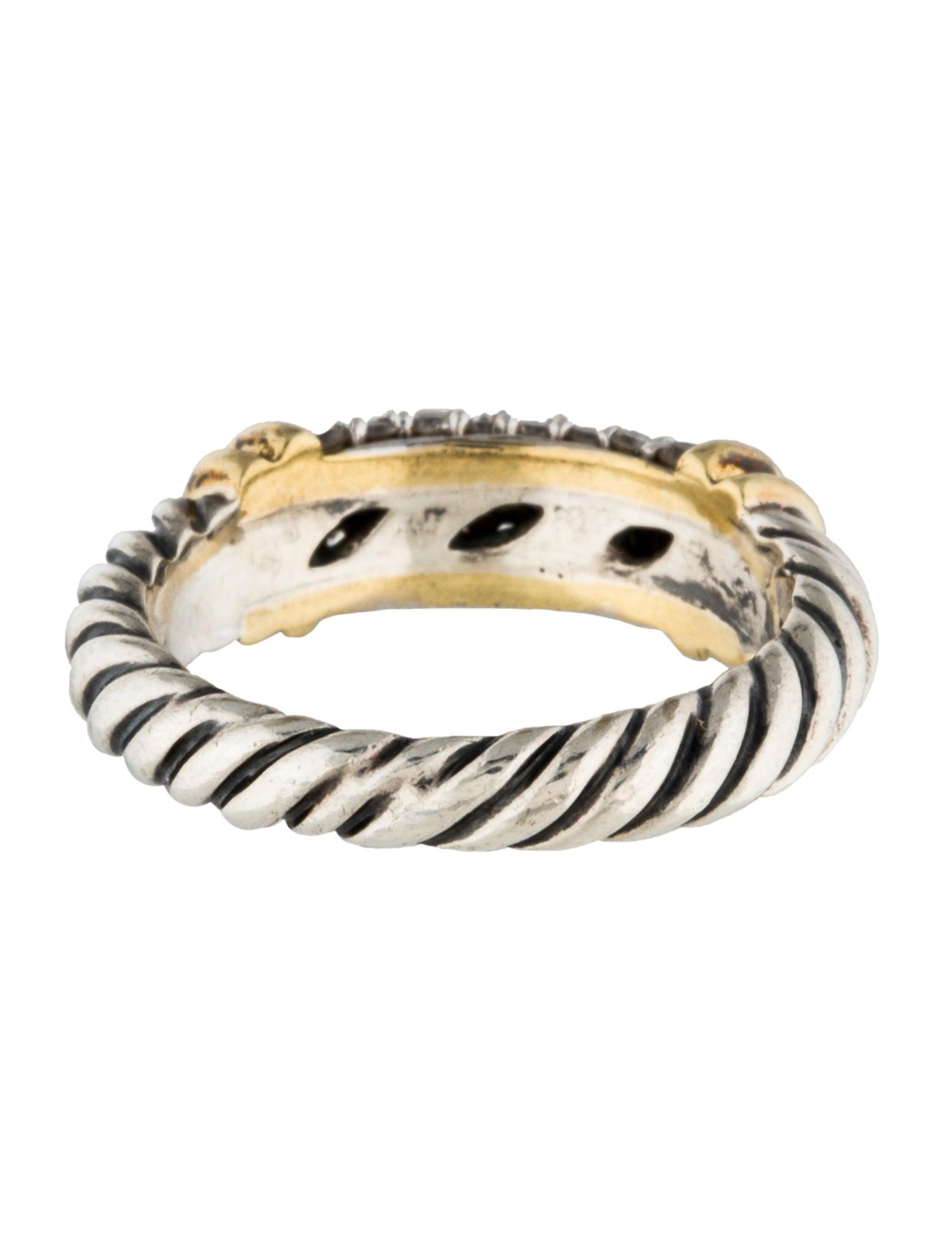 David yurman pav diamond metro cable ring rings for David yurman inspired jewelry rings