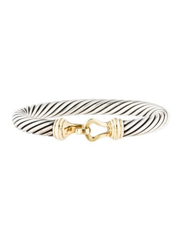 David Yurman Two-Tone Cable Buckle Bracelet