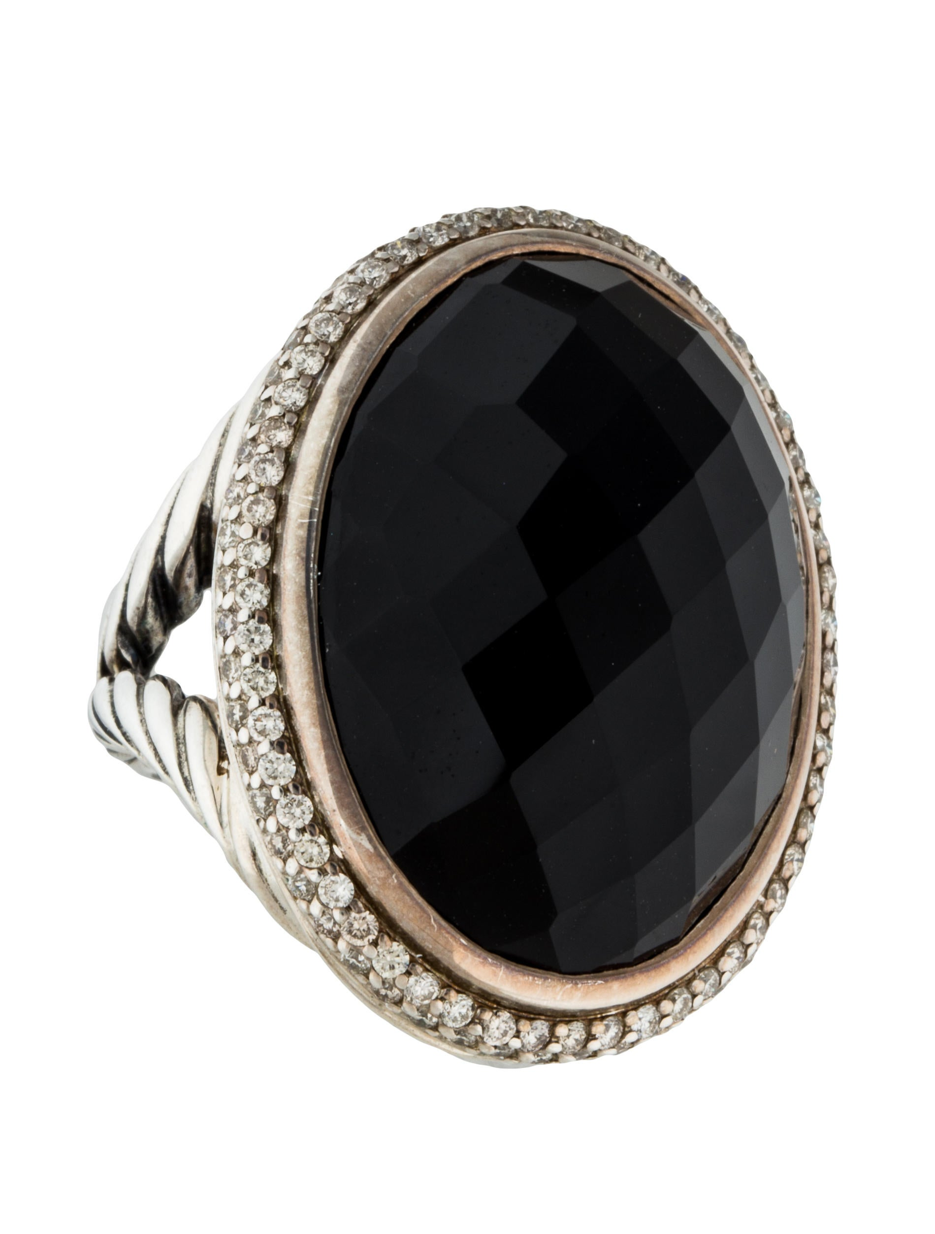 Diamond Onyx Signature Oval Tail Ring