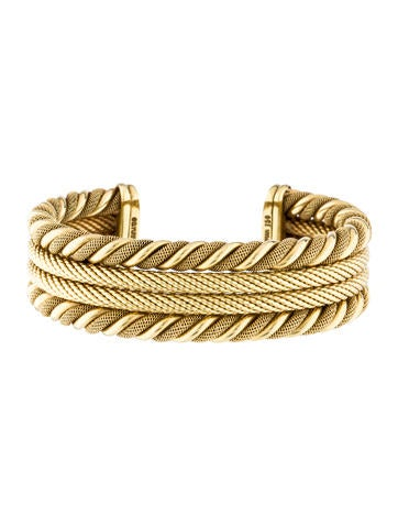 David Yurman 18K Textured Cuff