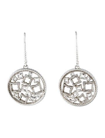 David Yurman Diamond Tapestry Earrings